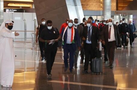بعثة منتخب السودان تصل الدوحة للمشاركة في تصفيات بطولة كأس العرب 2021