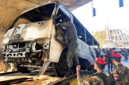 """""""13"""" قتيلاً على الأقل حصيلة تفجير استهدف حافلة عسكرية في دمشق"""
